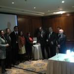 Consegna della targa da ITS Argentina a TTS Italia per la prima giornata italo-argentina