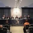 """Tavola rotonda sul """"Piano ITS Nazionale"""" con (da sinistra), R.Sgalla, R. Panero, M. Zazza, A.Peri, M. Panettoni, M.De Donato (moderatore), E. Castagna"""