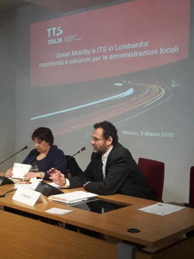 Da sinistra: Olga Landolfi, Segr. Generale TTS Italia; Luca Tosi, AMAT