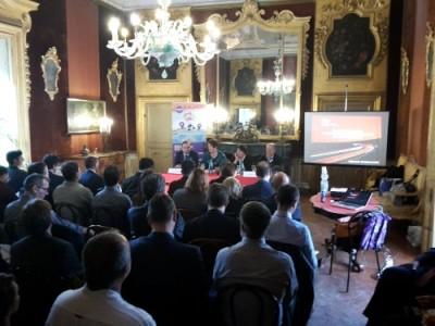 Da sinistra: Giusto Catania, Ass. ai trasporti di Palermo; Rossella Panero, Presidente TTS Italia; Olga Landolfi, Segretario Generale TTS Italia; Giorgio Martini, Agenzia Coesione Territoriale