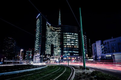 MILAN, ITALY - FEBRUARY 04,2016: Milan Porta Garibaldi district.