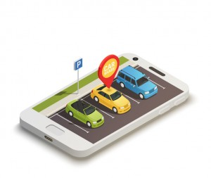Car Sharing Abstract Design Concept