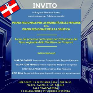 INVITO PIANO REGIONALE MOBILITA'