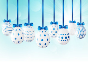 Easter eggs on sunny background 7